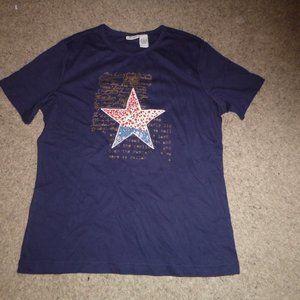 Women's 100% Cotton Patriotic Short Sleved T-Shirt